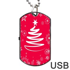 Christmas Tree Dog Tag USB Flash (Two Sides)