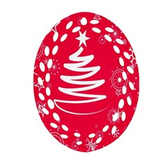 Christmas Tree Oval Filigree Ornament (Two Sides)