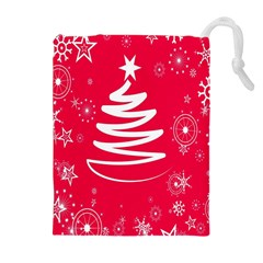 Christmas Tree Drawstring Pouches (Extra Large)
