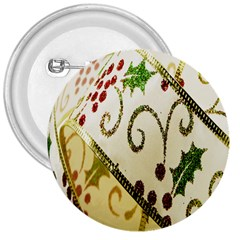 Christmas Ribbon Background 3  Buttons