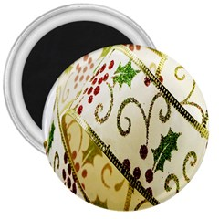 Christmas Ribbon Background 3  Magnets