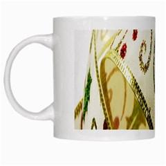 Christmas Ribbon Background White Mugs