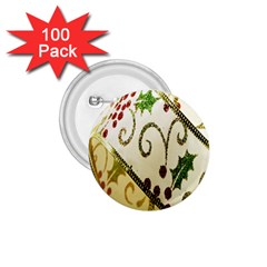 Christmas Ribbon Background 1.75  Buttons (100 pack)