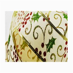 Christmas Ribbon Background Small Glasses Cloth