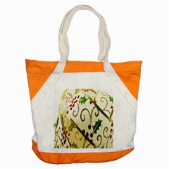 Christmas Ribbon Background Accent Tote Bag
