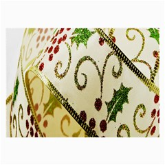 Christmas Ribbon Background Large Glasses Cloth