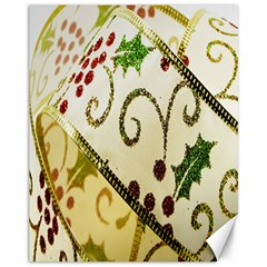 Christmas Ribbon Background Canvas 11  x 14