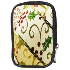 Christmas Ribbon Background Compact Camera Cases