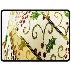 Christmas Ribbon Background Fleece Blanket (Large)