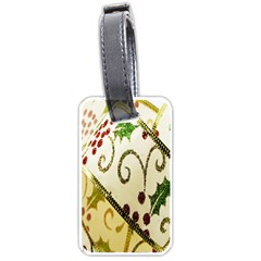 Christmas Ribbon Background Luggage Tags (Two Sides)