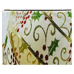 Christmas Ribbon Background Cosmetic Bag (XXXL)