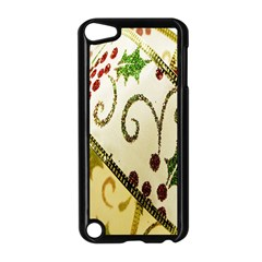Christmas Ribbon Background Apple iPod Touch 5 Case (Black)