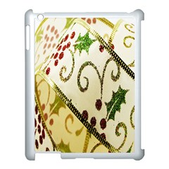 Christmas Ribbon Background Apple iPad 3/4 Case (White)