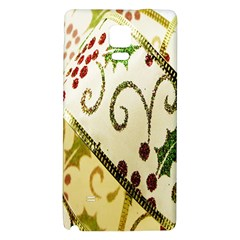 Christmas Ribbon Background Galaxy Note 4 Back Case