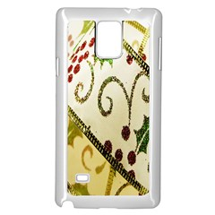 Christmas Ribbon Background Samsung Galaxy Note 4 Case (White)