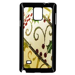 Christmas Ribbon Background Samsung Galaxy Note 4 Case (Black)