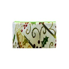 Christmas Ribbon Background Cosmetic Bag (XS)