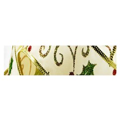 Christmas Ribbon Background Satin Scarf (Oblong)