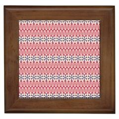 Christmas Pattern Vintage Framed Tiles