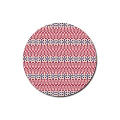 Christmas Pattern Vintage Rubber Round Coaster (4 pack)