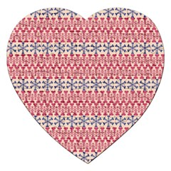 Christmas Pattern Vintage Jigsaw Puzzle (Heart)