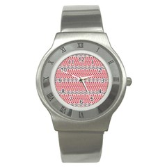 Christmas Pattern Vintage Stainless Steel Watch