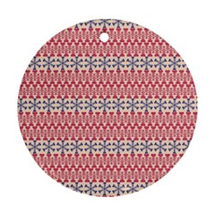 Christmas Pattern Vintage Round Ornament (Two Sides)