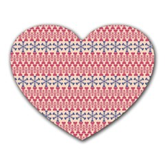 Christmas Pattern Vintage Heart Mousepads
