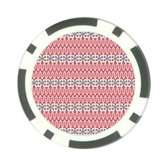 Christmas Pattern Vintage Poker Chip Card Guard (10 pack)
