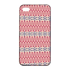 Christmas Pattern Vintage Apple iPhone 4/4s Seamless Case (Black)
