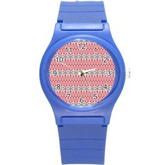 Christmas Pattern Vintage Round Plastic Sport Watch (S)