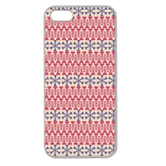 Christmas Pattern Vintage Apple Seamless iPhone 5 Case (Clear)