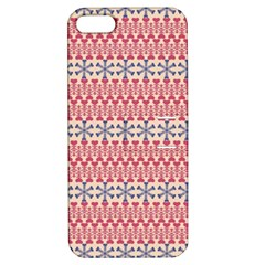 Christmas Pattern Vintage Apple iPhone 5 Hardshell Case with Stand