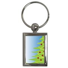 Christmas Tree Christmas Key Chains (Rectangle)