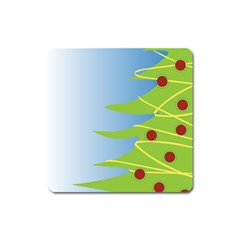 Christmas Tree Christmas Square Magnet