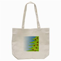Christmas Tree Christmas Tote Bag (Cream)