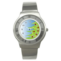 Christmas Tree Christmas Stainless Steel Watch