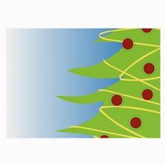 Christmas Tree Christmas Large Glasses Cloth