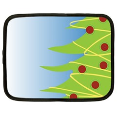 Christmas Tree Christmas Netbook Case (Large)