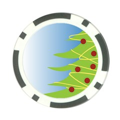 Christmas Tree Christmas Poker Chip Card Guard (10 pack)