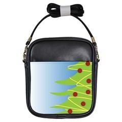 Christmas Tree Christmas Girls Sling Bags
