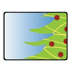 Christmas Tree Christmas Fleece Blanket (small)