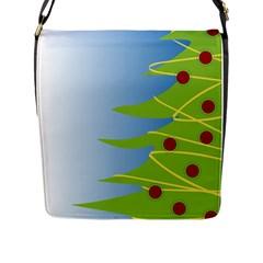 Christmas Tree Christmas Flap Messenger Bag (L)