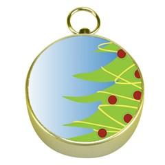 Christmas Tree Christmas Gold Compasses