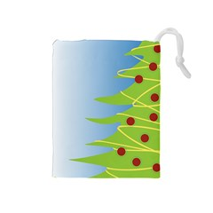 Christmas Tree Christmas Drawstring Pouches (Medium)