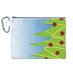 Christmas Tree Christmas Canvas Cosmetic Bag (XL)