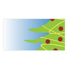 Christmas Tree Christmas Satin Shawl