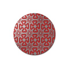 Christmas Wrap Pattern Magnet 3  (Round)