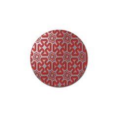Christmas Wrap Pattern Golf Ball Marker (4 pack)