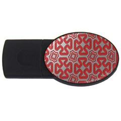 Christmas Wrap Pattern USB Flash Drive Oval (4 GB)